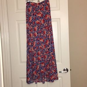 NWOT Floral LuLaRoe Maxi Skirt Size Small (6-8).